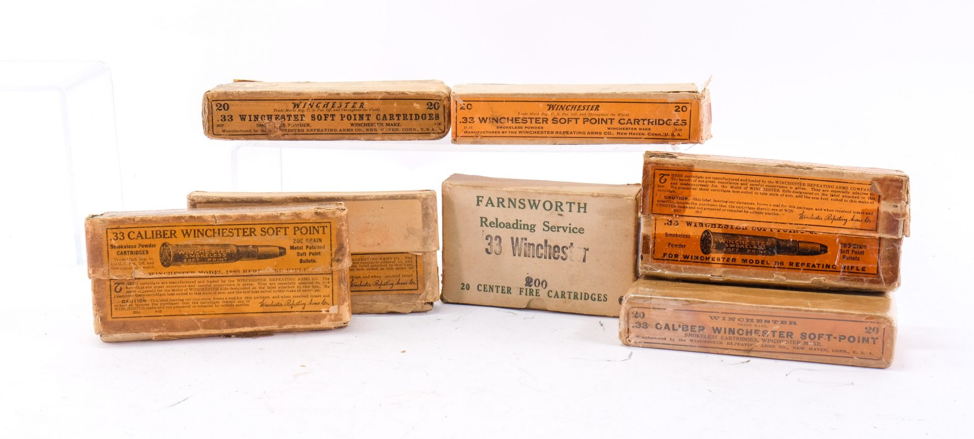 Winchester .33 WCF Vintage Ammo Lot